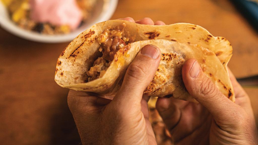 Une grande partie de la nourriture inspirée de Baja est cultivée dans les ranchs de Walton ou localement
