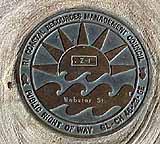 Plaque d'État du RI pour les droits de passage désignés