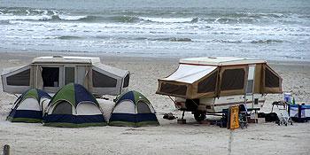 Camping de plage à Port Aransas