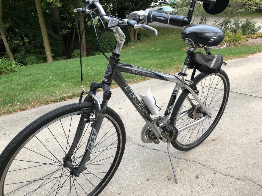 Deuxième vélo de Kristen Buss, elle s'est fait voler deux vélos dans sa cour arrière en seulement quelques mois.