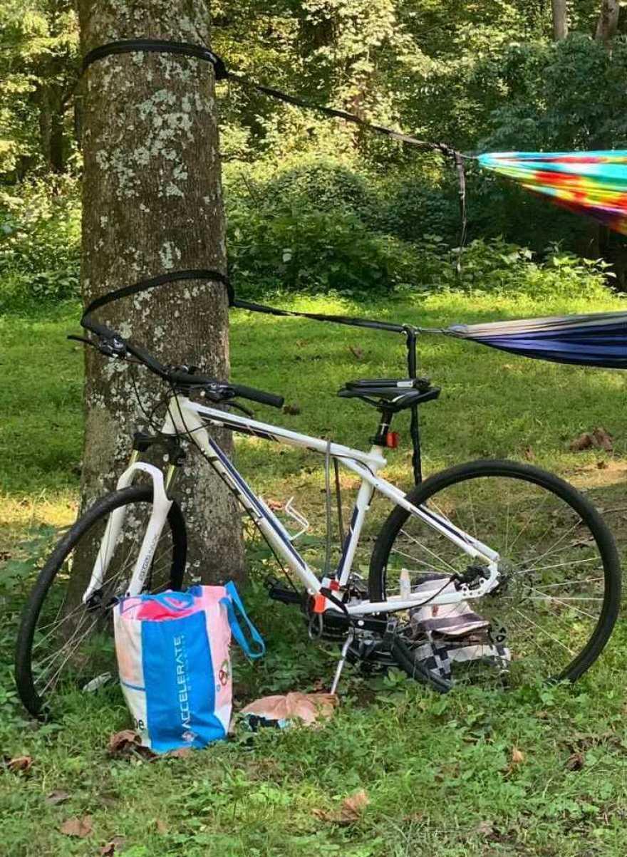 Le vélo d'Elizabeth Abrams avant qu'il ne soit volé en décembre 2020.