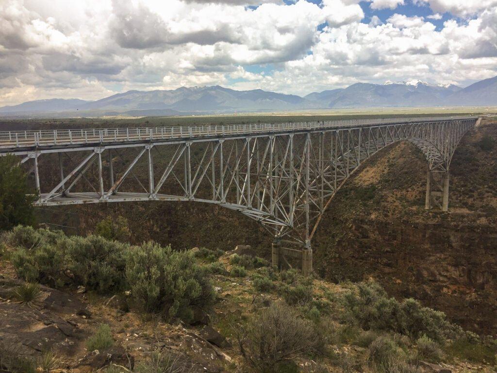 Pont de la gorge du Rio Grande, Nouveau-Mexique.