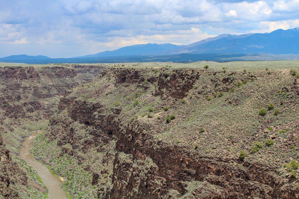 Rio Grande Gorge à Taos, NM.
