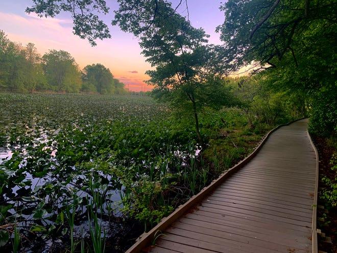 Les visiteurs peuvent admirer de magnifiques couchers de soleil au Silver Lake Park, dans le canton de Bristol.