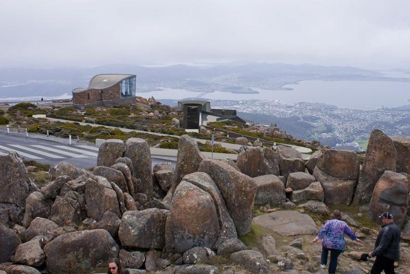 Vue d'artiste du sommet du mont Wellington