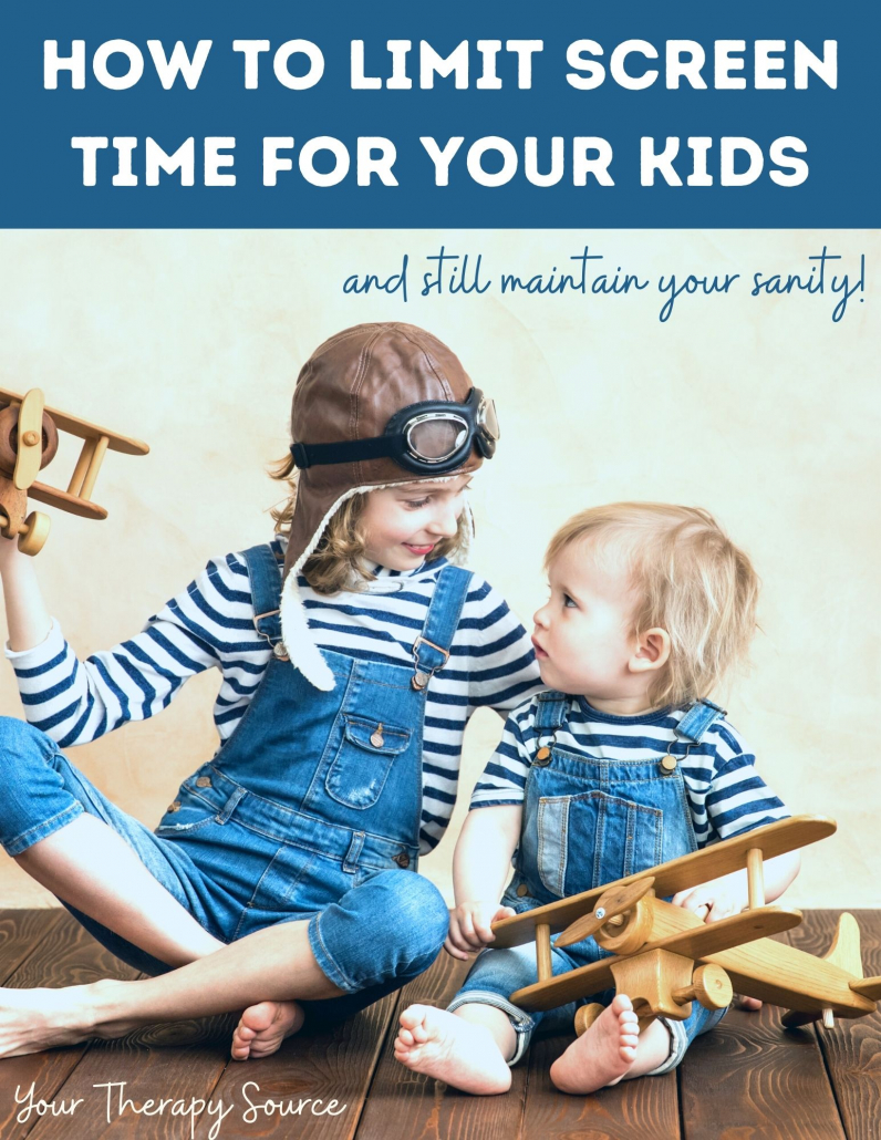 Your Therapy Source a créé ce guide de 44 pages pour vous aider à apprendre comment réduire le temps d'écran de vos enfants sans perdre votre santé mentale.