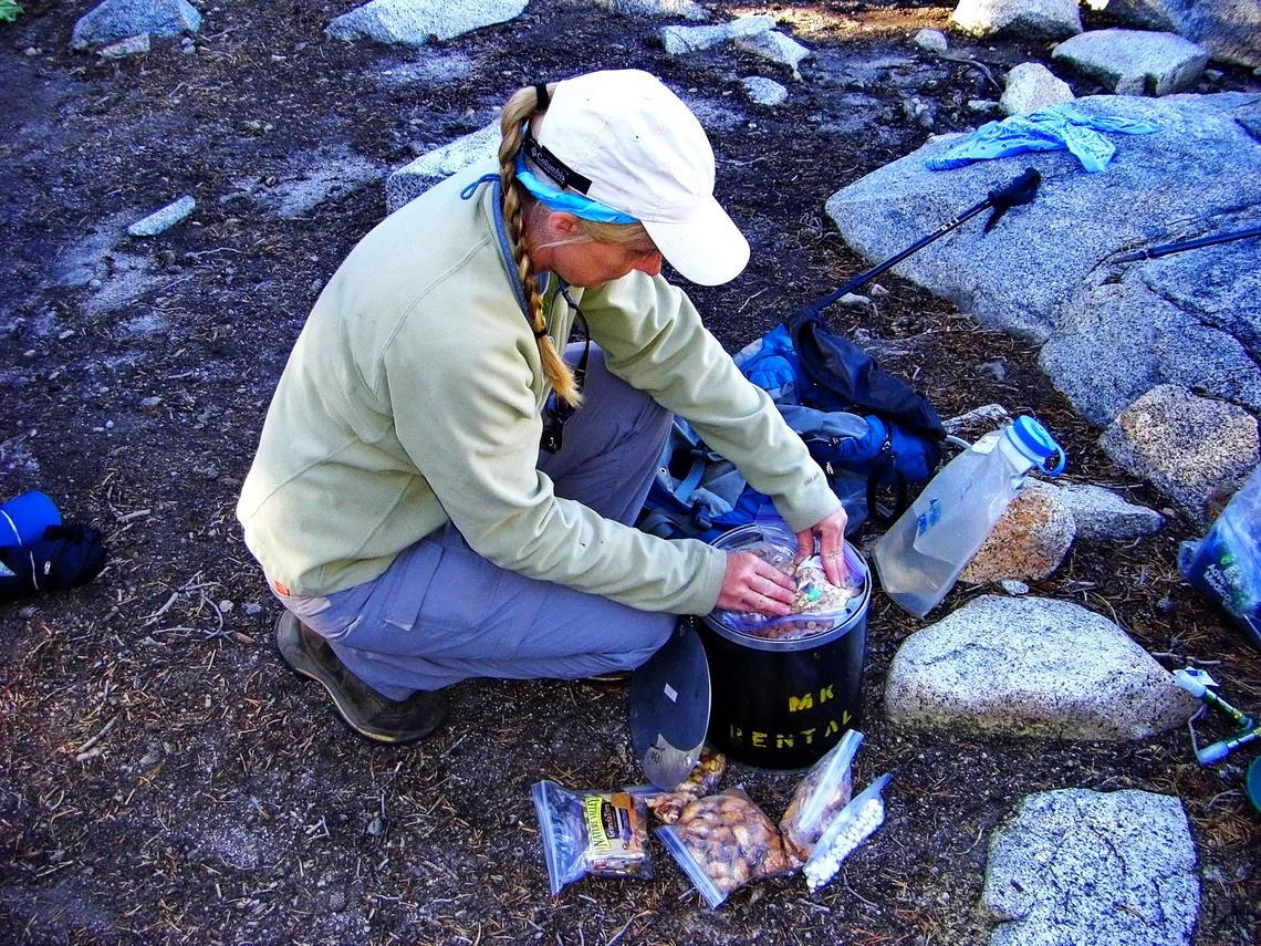 Stockage de nourriture dans le parc national de Yosemite