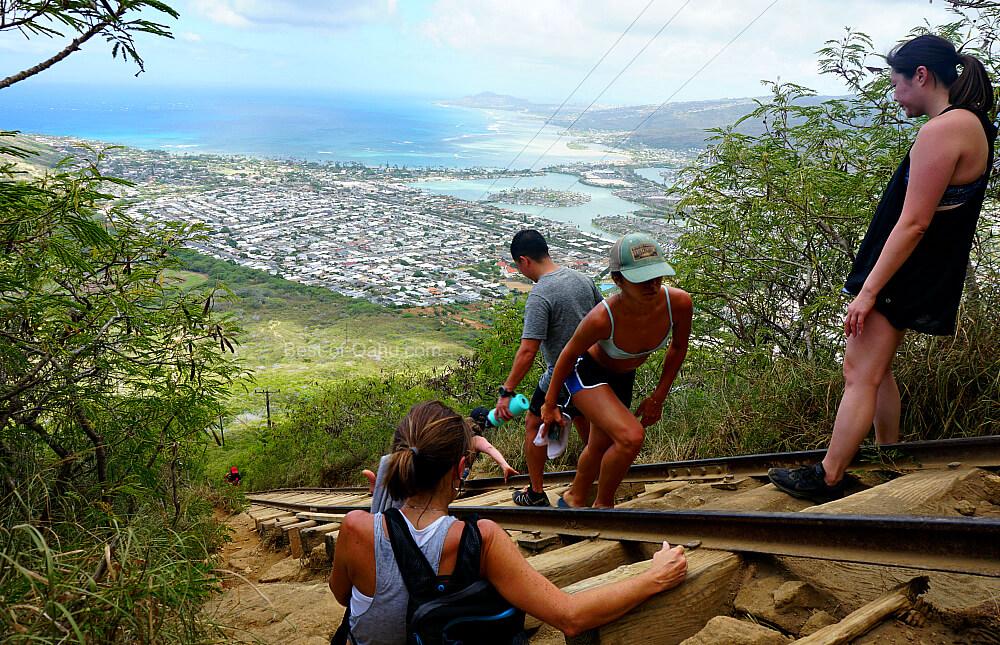 Vue sur le sentier du cratère de Koko